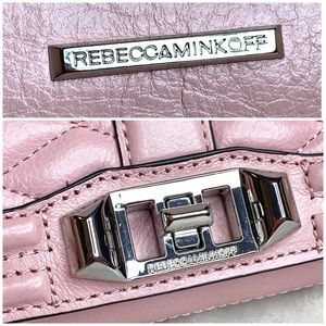 Rebecca Minkoff Bags - Rebecca Minkoff Pink Quilted Leather Love Clutch